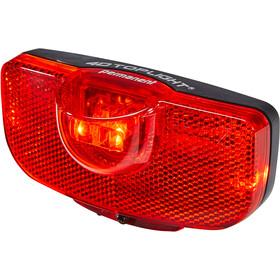Busch + Müller 4D-Toplight Éclairage arrière fonctionnant sur piles permanent, black/red